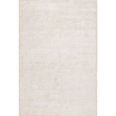 Geff Hand-Loomed Ivory/White Area Rug Rug Size: Rectangle 5 x 8