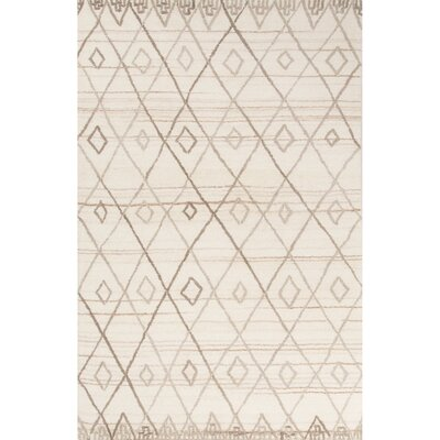 Verdon Hand-Tufted Ivory/Natural Area Rug Rug Size: Rectangle 5 x 8