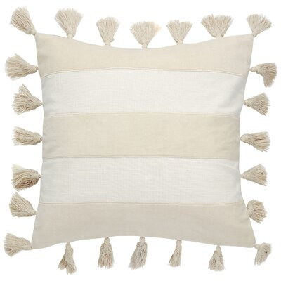 Zayden Striped Square Cotton Throw Pillow Color: Star/Smoke