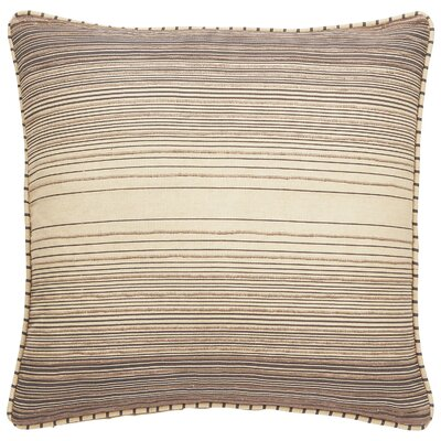 Zayden Striped Cotton Throw Pillow Color: Frozen Dew/Plum Kitten