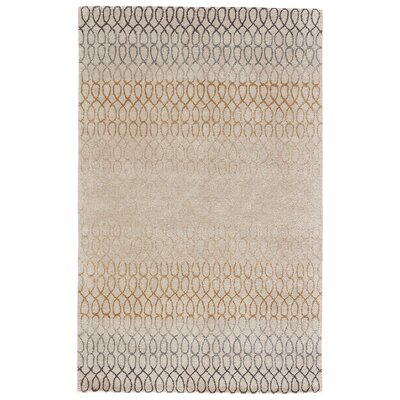 Hebron Hand-Tufted Mineral Blue/Lint Area Rug Rug Size: 2 x 3