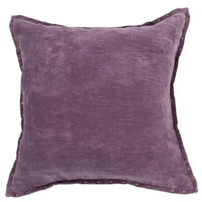 Castor Solid Rectangular Cotton Throw Pillow Color: Purple