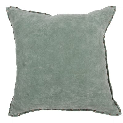 Castor Solid Rectangular Cotton Throw Pillow Color: Light Green