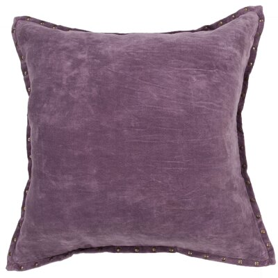 Castor Solid Square Cotton Throw Pillow Color: Purple