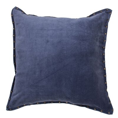 Castor Solid Square Cotton Throw Pillow Color: Blue