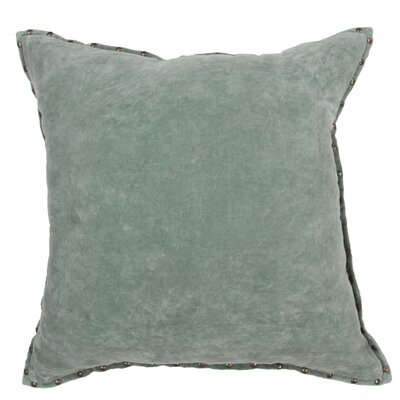 Georgia Solid Cotton Throw Pillow Color: Light Green