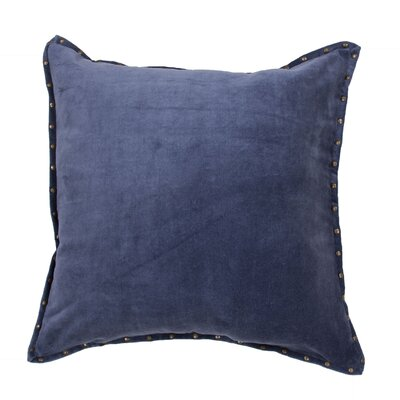 Georgia Solid Cotton Throw Pillow Color: Blue