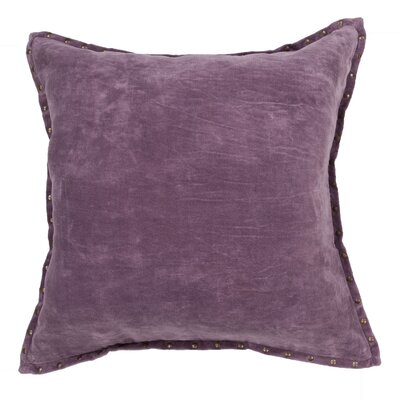Castor Modern Solid Cotton Throw Pillow Color: Purple