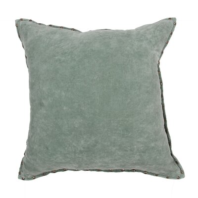 Castor Solid Cotton Throw Pillow Color: Light Green