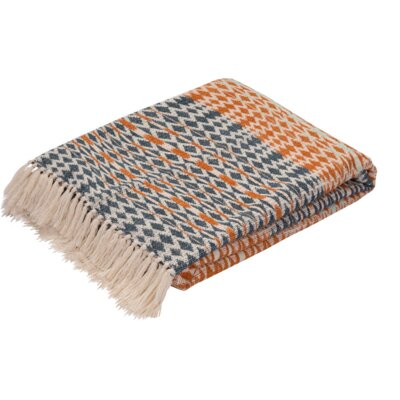 Dobson Cotton Throw Color: Orange / Blue