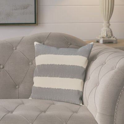 Castleville Square Twisted Stripe Print Throw Pillow Size: 18 H x 18 W, Color: Gray
