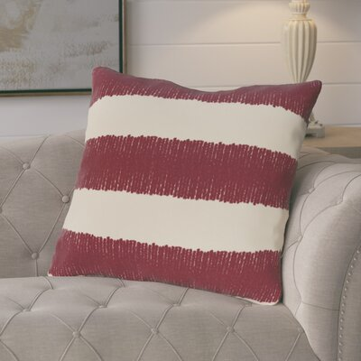 Castleville Twisted Stripe Print Throw Pillow Color: Cranberry/Burgundy
