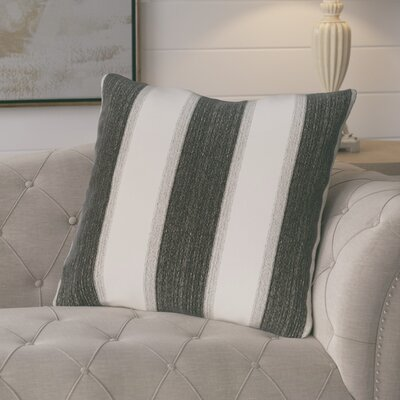 Castleville Stripe Print Floor Throw Pillow Color: Black