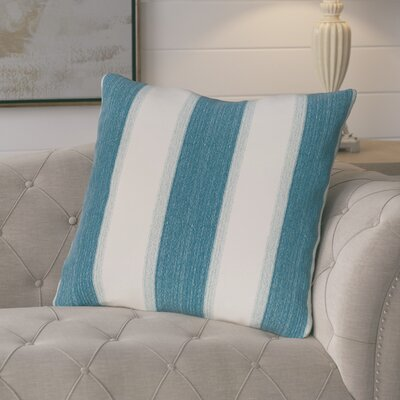 Castleville Stripe Print Floor Throw Pillow Color: Teal