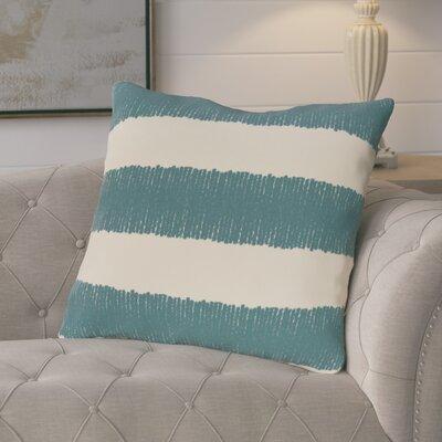 Castleville Twisted Stripe Print Throw Pillow Color: Aqua