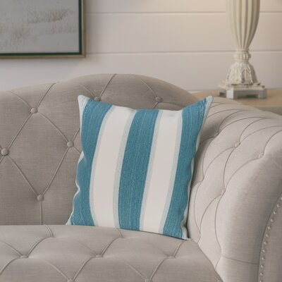 Exie Striate Stripe Stripe Print Throw Pillow Size: 16 H x 16 W, Color: Teal