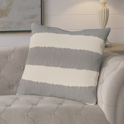 Castleville Twisted Stripe Print Throw Pillow Color: Gray