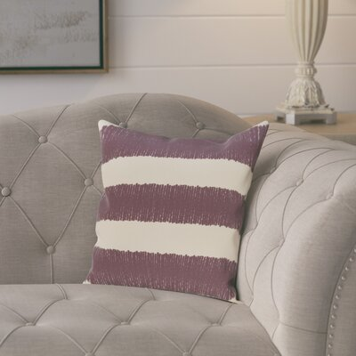 Castleville Square Twisted Stripe Print Throw Pillow Size: 18 H x 18 W, Color: Purple