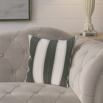 Exie Striate Stripe Stripe Print Throw Pillow Color: Black, Size: 18 H x 18 W