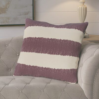 Castleville Twisted Stripe Print Throw Pillow Color: Purple