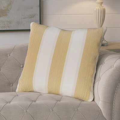 Castleville Stripe Print Floor Throw Pillow Color: Gold