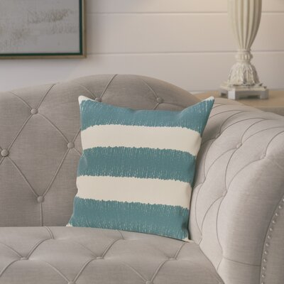 Castleville Square Twisted Stripe Print Throw Pillow Size: 18 H x 18 W, Color: Aqua