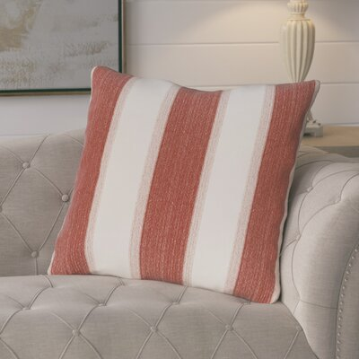 Castleville Stripe Print Floor Throw Pillow Color: Orange
