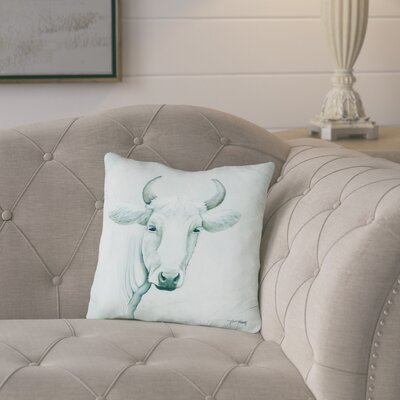 Dennis January Cow Throw Pillow Size: 18 H x 18 W x 2 D