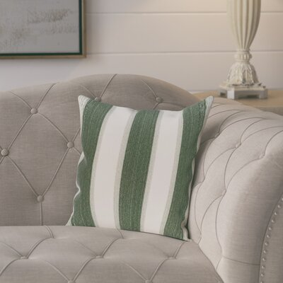 Exie Striate Stripe Stripe Print Throw Pillow Size: 26 H x 26 W, Color: Green