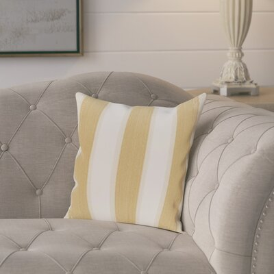 Exie Striate Stripe Stripe Print Throw Pillow Size: 16 H x 16 W, Color: Gold