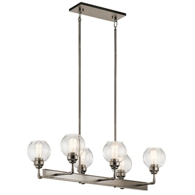 Killdeer Contemporary 6-Light Kitchen Island Pendant