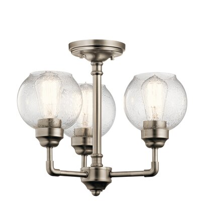 Killdeer 3-Light Semi Flush Mount Finish: Antique Pewter