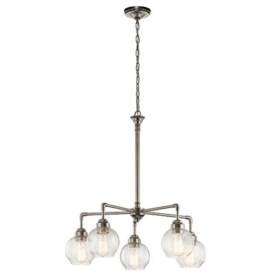 Kymber 5-Light Shaded Chandelier Finish: Antique Pewter