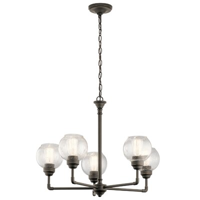 Emden 5-Light Shaded Chandelier Finish: Olde Bronze