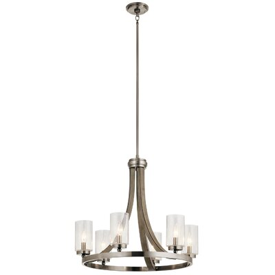 Christenson 6-Light Steel Candle-Style Chandelier