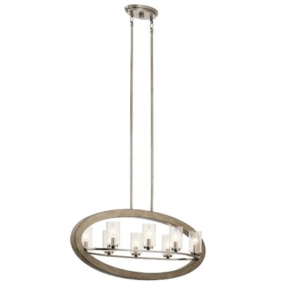 Christenson Rustic 8-Light Candle-Style Chandelier