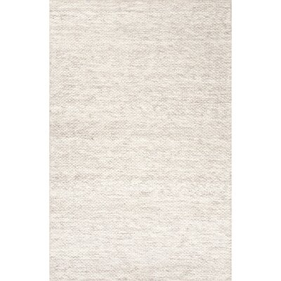 Erath Ivory/Gray Rug Rug Size: Rectangle 8 x 10