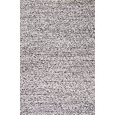 Erath Hand-Woven Wool Gray Area Rug Rug Size: Rectangle 8 x 10