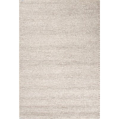 Gertrude Wool Oyster Gray Area Rug Rug Size: Rectangle 9 x 12