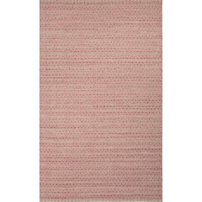 Turton Red/Taupe Solid Area Rug Rug Size: 5 x 8