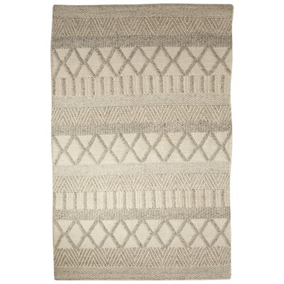 Gertrude Ivory/Gray Area Rug Rug Size: 2 x 3