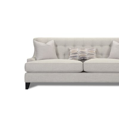 Carson Wingback Sofa Upholstery Color: Cream