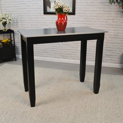 Citronelle Galvanized Counter Height Pub Table Finish: Black