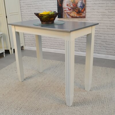 Citronelle Galvanized Counter Height Pub Table Color: White