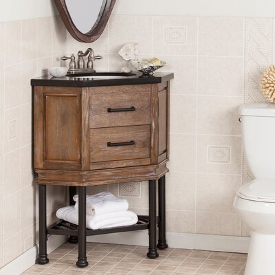 Valensole 32 Single Corner Bath Vanity Sink with Granite Top