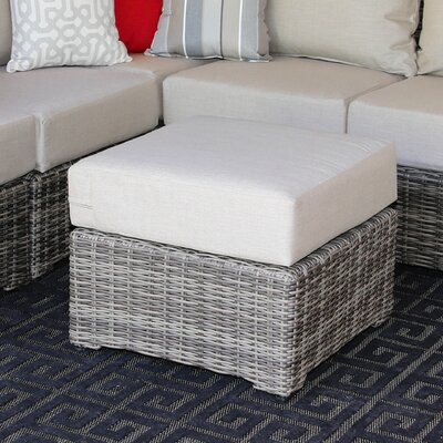 Valentin Ottoman with Cushion Fabric: Cast Ash