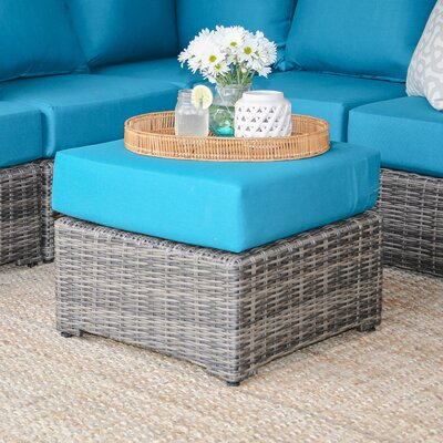 Valentin Ottoman with Cushion Fabric: Spectrum Peacock