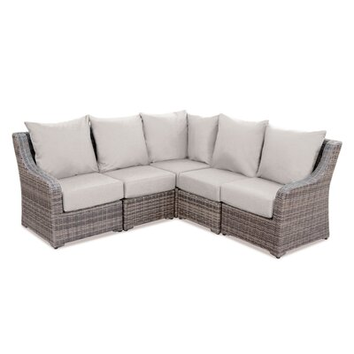 Valentin Sectional Sofa with Cushions Fabric: Cast Ash