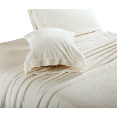 Balderston Super Soft Plush Sheet Set Size: Full, Color: Ivory