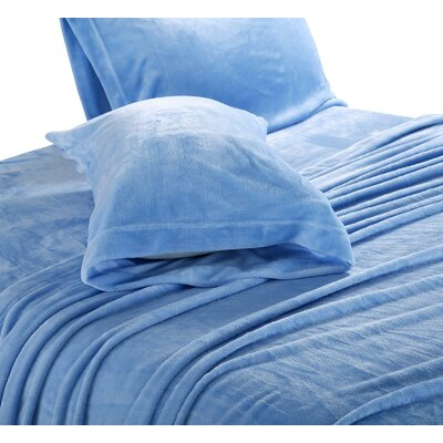 Balderston Super Soft Plush Sheet Set Size: King, Color: Placid